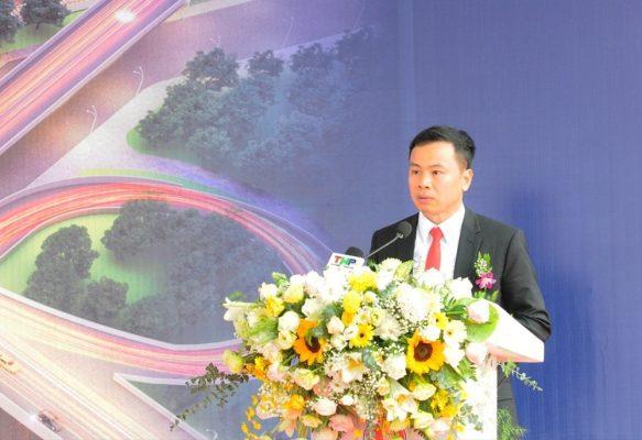 Lãnh đạo Hoàng Huy phát biểu tại buổi lễ